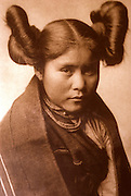 NATIVE AMERICANS E. Curtis photograph, early 20th century, Portrait of a Girl (Hopi)