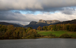 © Licensed to London News Pictures. 07/11/2016. Lake District, UK. Autumn colours on display at Loughrigg Tarn in the Lake District.  Photo credit: Anna Gowthorpe/LNP
