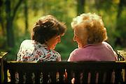 Senior women catching up
