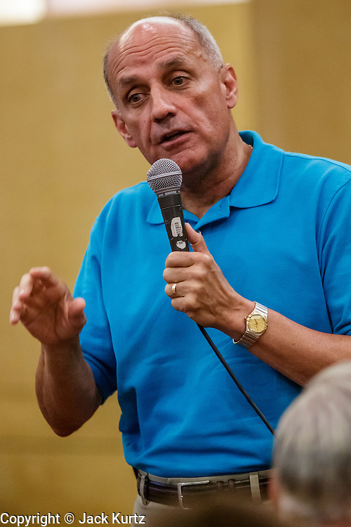 08 SEPTEMBER 2012 - SURPRISE, AZ:  Dr. RICHARD CARMONA speaks during a campaign town hall meeting in Surprise, AZ. Carmona, a Democrat, is from Tucson, AZ. He is a former US Surgeon General, former Green Beret, and former SWAT Police officer, is running for the US Senate being vacated by Republican Sen. Jon Kyl. His opponent in the November election is Rep. Jeff Flake, a long serving Congressman from Mesa, a suburb of Phoenix.   PHOTO BY JACK KURTZ