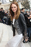 PARIS, FRANCE - JANUARY 24:  Vanessa Paradis arrives at the Chanel Haute-Couture Spring / Summer 2012 Show as part of Paris Fashion Week at the Grand Palais on January 24, 2012 in Paris, France.  (Photo by Tony Barson/Getty Images)