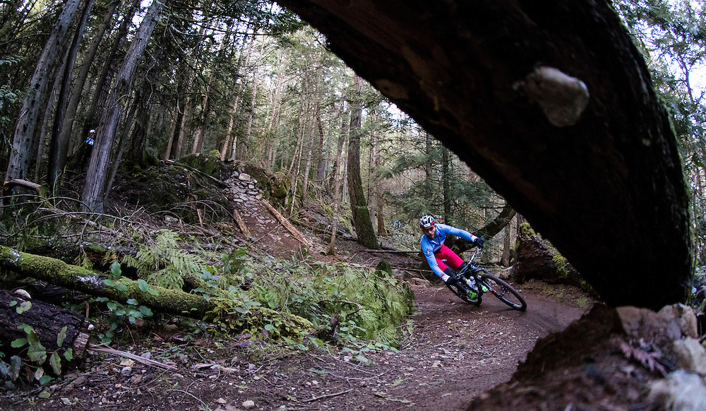 VICTORIA, B.C.: FEBRUARY 23, 2017-  The  Canadian Mountain Bike Team trains at the Hartland Road Mountain Bike Park in Victoria, British Columbia on February 23, 2017. (KEVIN LIGHT)