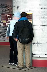 Visitor Displays at Johnston Ridge Observatory,  Mt. St. Helens National Volcanic Monument, Washington, US