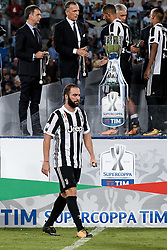 August 13, 2017 - Rome, Italy - Gonzalo Higuain of Juventus looks dejected after the match during the Italian Supercup Final match between Juventus and Lazio at Stadio Olimpico, Rome, Italy on 13 August 2017. (Credit Image: © Giuseppe Maffia/NurPhoto via ZUMA Press)