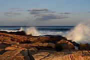 Waves crashing on rocks, Ship Harbor, Acadia National Park, Maine
