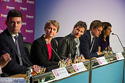 © London News Pictures. 16/05/2015. L to R Andy Burnham, Yvette Copper, Mary Creagh, Tristram Hunt and Liz Kendal at Progress annual conference held at TUC Congress House in London to discuss the labour leadership race following a heavy defeat in the recent general election..  Photo credit: Ben Cawthra/LNP