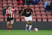 Manchester United U21 Matty Willock during the Barclays U21 Premier League match between U21 Southampton and U21 Manchester United at the St Mary's Stadium, Southampton, England on 25 April 2016. Photo by Phil Duncan.