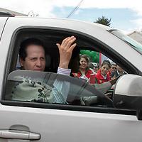 XONACATLAN, Mexico.- Eruviel Avila Villegas, gobernador del Estado de Mexico, durante sus actividades en el programa Cien dias de gobierno. Agencia MVT / Jose Hernandez. (DIGITAL)