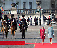 Brussels,  08-3-2016 <br /> <br /> State Visit of President Gauck of Germany to Belgium.<br /> <br /> <br /> Meeting with King Felipe and Queen Mathilde at Palace Square and Group Photo at the Royal Palace of Brussels<br /> <br /> <br /> <br /> <br /> <br /> Copyright: Royalportraits Europe/Bernard Ruebsamen