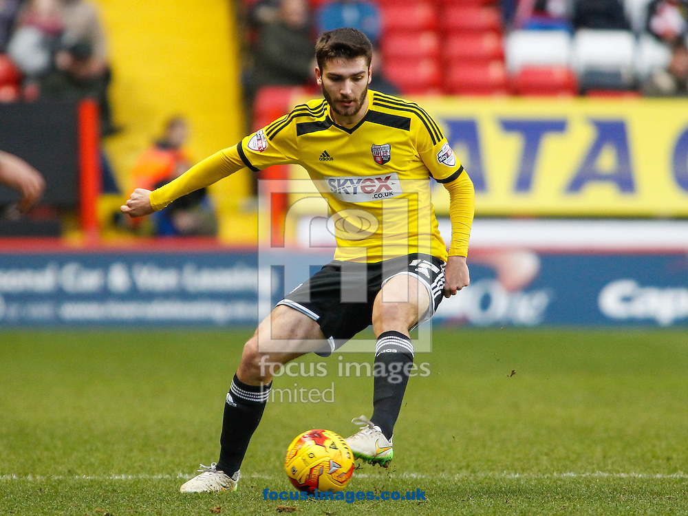Jon Toral of Brentford during the Sky Bet Championship match between Charlton Athletic and Brentford at The Valley, London<br /> Picture by Mark D Fuller/Focus Images Ltd +44 7774 216216<br /> 14/02/2015