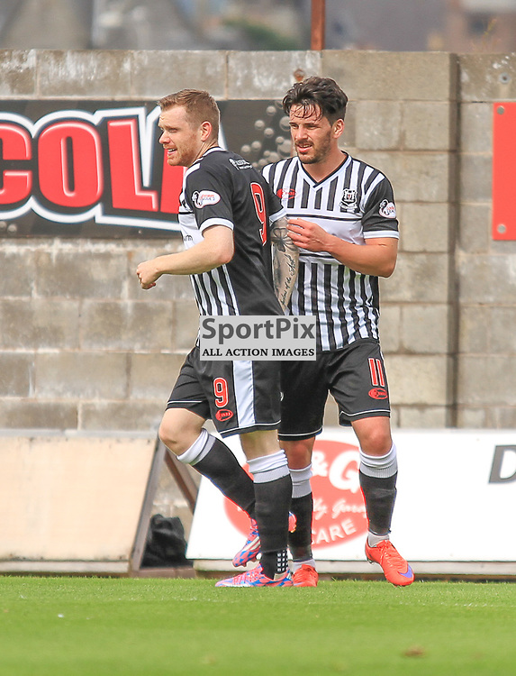 East Fife V Elgin Scottish League Two 22 August 2015;  Elgin's Craig Gunn and Elgin's Marc McKenzie during the East Fife V Elgin Scottish League Two match played at Bayview Stadium, Methill.