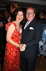 MISS AMANDA PLATELL, former adviser to the Conservative Party and MR SIMON HEFFER at the Conservative party Pre-Conference Season party hosted by Lord Saatchi and Lord Strathclyde and held at M&C Saatchi, 36 Golden Square, London W1 on 7th September 2004.