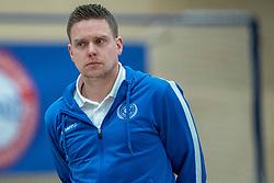 21-12-2019 NED: AVV Keistad - Lycurgus, Amersfoort<br /> 1/4 final National Cup season volleyball men, Lycurgus win 3-0 / Trainer/coach Arjan Taaij