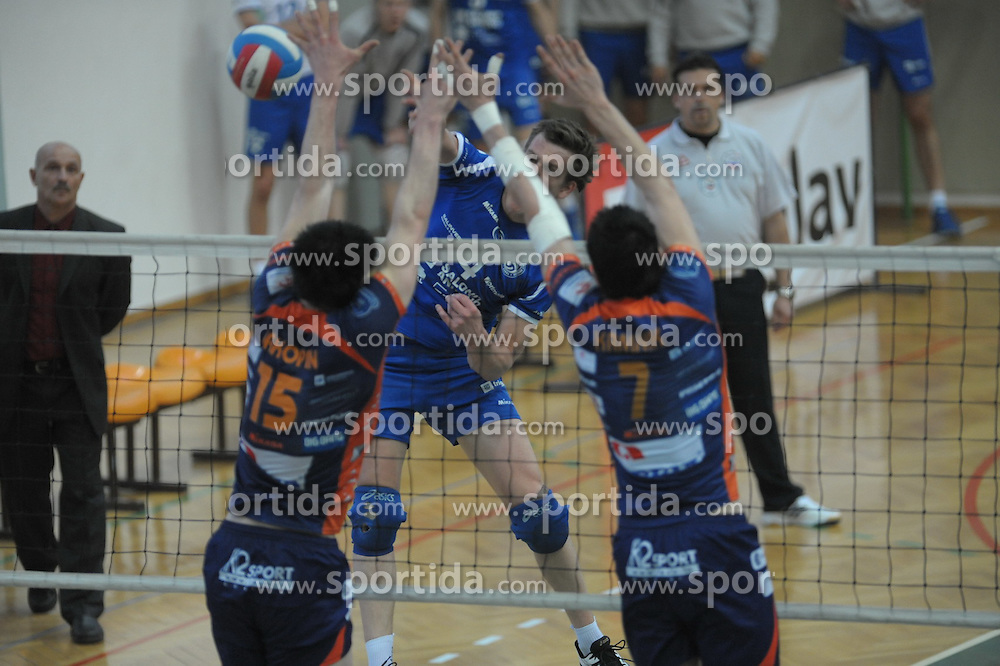 Potocnik of Salonit Anhovo at 1st match of finals of 1st DOL men volleyball league between OK Salonit Anhovo and OK ACH Volley, ACH played in Sportna dvorana Kanal, on April 20, 2010, in Kanal, Slovenia. (Photo by foto-forma / Sportida)