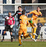 Lewis Toshney clears for Dundee - Dundee v Motherwell, Clydesdale Bank Scottish Premier League at Dens Park.. - © David Young - 5 Foundry Place - Monifieth - DD5 4BB - Telephone 07765 252616 - email: davidyoungphoto@gmail.com - web: www.davidyoungphoto.co.uk
