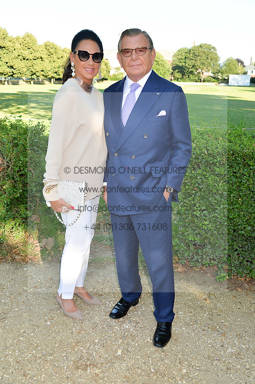 GERALD & DAME GAIL RONSON at the Frost Family Summer party in support of the British Heart Foundation and the Mile Frost Fund held at Burton Court, Chelsea, London  on 18th July 2016.
