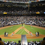 Carlos Gomez, Houston Astros, heads out of the batters box after hitting a ground ball during the New York Yankees Vs Houston Astros, Wildcard game at Yankee Stadium, The Bronx, New York. 6th October 2015 Photo Tim Clayton for The Players Tribune
