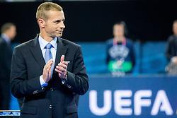 Aleksander Ceferin, president of UEFA during medal ceremony after the Final match of UEFA Futsal EURO 2018, on February 10, 2018 in Arena Stozice, Ljubljana, Slovenia. Photo by Ziga Zupan / Sportida