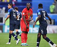 FUSSBALL  WM 2018  Halbfinale  10.07.2018 Frankreich - Belgien Romelu Lukaku (Mitte, Belgien) enttaeuscht