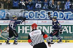 14.11.2014, Saturn Arena, Ingolstadt, GER, DEL, ERC Ingolstadt vs Augsburger Panther, 17. Runde, im Bild ERC Ingolstadt vs Augsburger Panther, Eishockey, DEL, Deutsche Eishockey Liga, Spieltag 17, 14.11.2014, Foto: Eibner // during Germans DEL Icehockey League 17th round match between ERC Ingolstadt and Augsburger Panther at the Saturn Arena in Ingolstadt, Germany on 2014/11/14. EXPA Pictures © 2014, PhotoCredit: EXPA/ Eibner-Pressefoto/ Strisch<br /> <br /> *****ATTENTION - OUT of GER*****