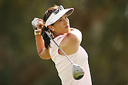 March 27, 2005; Rancho Mirage, CA, USA;  Grace Park tees off at the 3rd hole during the final round of the LPGA Kraft Nabisco golf tournament held at Mission Hills Country Club.  Park finished the day with a 5 under par 67 and finished tied for 5th with an overall score of 4 under par 284.<br />Mandatory Credit: Photo by Darrell Miho <br />&copy; Copyright Darrell Miho