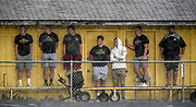 Kernel fans find shelter from the rain during a game against Douglas on Friday at Joe Quintal Field in Mitchell. (Matt Gade / Republic)