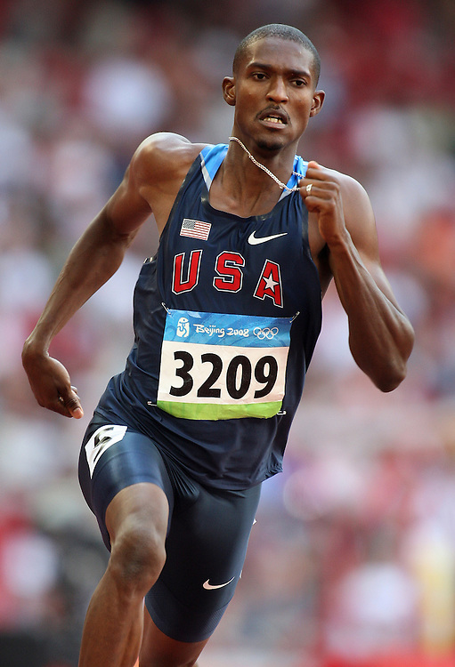 2008 Beijing Olympic Games- Day 4- Morning August 18th, 2008 *** David Neville -- 400m, USA *** Day 4 Morning
