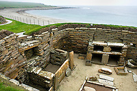 Skara Brae, a 5000 year old Neolithic village on Mainland, Orkney Islands Scotland