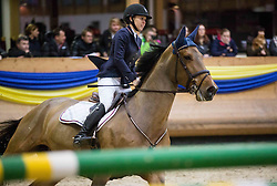 Hana Bajrovic of Slovenia with her horse Cosacara B during Equestrian competition  FEI Grand Prix World Cup Celje 2014, on November 30, 2014 in Equestrian Centre Celje, Slovenia. Photo by Vid Ponikvar / Sportida