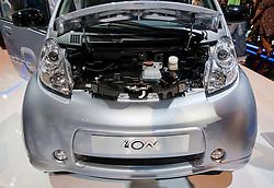 Peugeot ION electric car motor detail at Paris Motor Show 2010