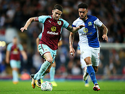 Robbie Brady of Burnley takes on Derrick Williams of Blackburn Rovers - Mandatory by-line: Matt McNulty/JMP - 23/08/2017 - FOOTBALL - Ewood Park - Blackburn, England - Blackburn Rovers v Burnley - Carabao Cup - Second Round