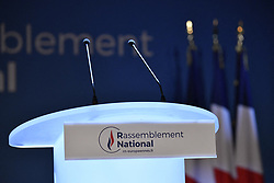 May 26, 2019 - Paris, Ile-de-France (region, France - The electoral evening of the European elections is preparing for the National Rally. (Credit Image: © Julien Mattia/Le Pictorium Agency via ZUMA Press)