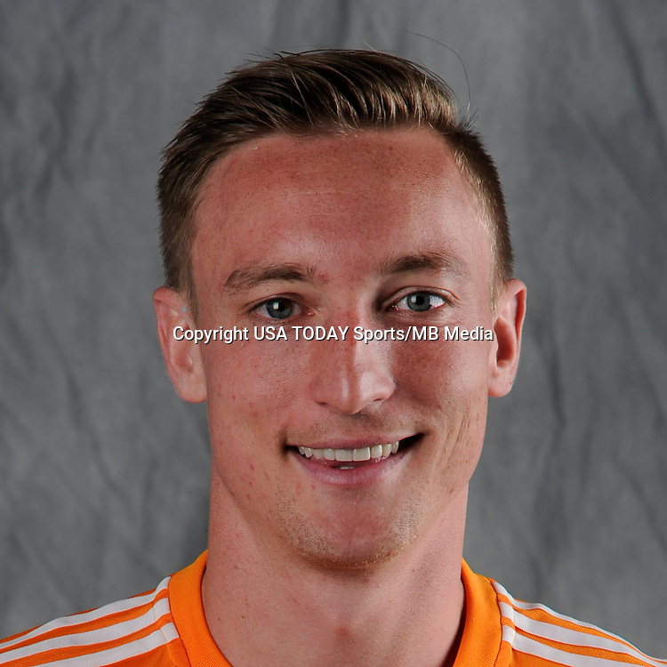 Feb 25, 2017; USA; Houston Dynamo player Dylan Remick poses for a photo. Mandatory Credit: USA TODAY Sports