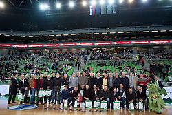 Legends of KK Union Olimpija during basketball match between KK Union Olimpija Ljubljana and KK Crvena zvezda Telekom (SRB) in 19th Round of ABA League 2015/16, on January 11, 2016 in Arena Stozice, Ljubljana, Slovenia. Photo by Urban Urbanc / Sportida