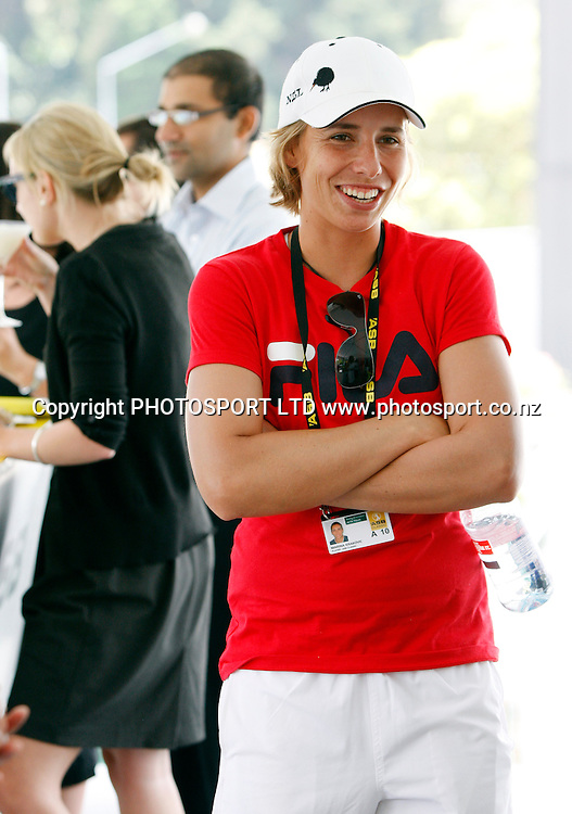New Zealand's Marina Erakovic signs autographs and visits the ASB corporate lounge at the ASB Classic, ASB Tennis Centre, Auckland, New Zealand. Thursday 7 January, 2010. Photo: Andrew Cornaga/PHOTOSPORT