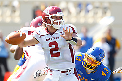 September 24, 2011; San Jose, CA, USA; New Mexico State Aggies quarterback Matt Christian (2) passes against the San Jose State Spartans during the first quarter at Spartan Stadium.
