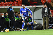 Lee Novak of Chesterfield FC  during the Sky Bet League 1 match between Doncaster Rovers and Chesterfield at the Keepmoat Stadium, Doncaster, England on 24 November 2015. Photo by Ian Lyall.