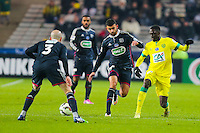 Remi GOMIS / Rachid GHEZZAL  - 20.01.2015 - Nantes / Lyon  - Coupe de France 2014/2015<br /> Photo : Vincent Michel / Icon Sport