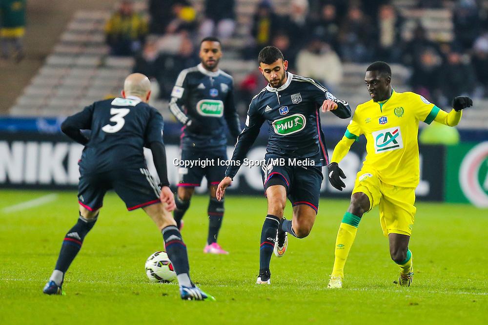 Remi GOMIS / Rachid GHEZZAL  - 20.01.2015 - Nantes / Lyon  - Coupe de France 2014/2015<br /> Photo : Vincent Michel / Icon Sport
