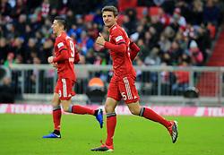 08.12.2018, 1.BL, FCB vs 1.FC Nuernberg, Allianz Arena Muenchen, Fussball, Sport, im Bild:..Robert Lewandowski (FCB) und Thomas Mueller (FCB) mit Daume hoch..DFL REGULATIONS PROHIBIT ANY USE OF PHOTOGRAPHS AS IMAGE SEQUENCES AND / OR QUASI VIDEO...Copyright: Philippe Ruiz..Tel: 089 745 82 22.Handy: 0177 29 39 408.e-Mail: philippe_ruiz@gmx.de. (Credit Image: © Philippe Ruiz/Xinhua via ZUMA Wire)