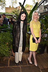 Left to right, Isabella Packham Anderson and Georgia Packham Anderson at The Ivy Chelsea Garden Summer Party, Kings Road, London, England. 14 May 2018.