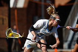 CHAPEL HILL, NC - MARCH 02: Elizabeth Hillman #32 of the North Carolina Tar Heels during a game against the Northwestern Wildcats on March 02, 2019 at the UNC Lacrosse and Soccer Stadium in Chapel Hill, North Carolina. North Carolina won 11-21. (Photo by Peyton Williams/US Lacrosse)
