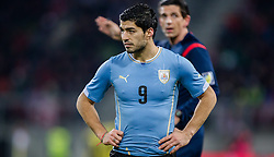 05.03.2014, Woerthersee Arena, Klagenfurt, AUT, Testspiel, Oesterreich vs Uruguay, im Bild Luis Suarez (Uruguay) // during the International Friendly between Austria and Uruguay at the Woerthersee Arena, Klagenfurt, Austria on 2013/03/05. EXPA Pictures © 2014, PhotoCredit: EXPA/ JFK