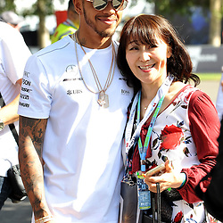 Lewis Hamilton, Mercedes AMG Petronas F1 Team signing autographs.<br /> <br /> Round 1 - 1st day of the 2017 Formula 1 Rolex Australian Grand Prix at The circuit of Albert Park, Melbourne, Victoria on the 23rd March 2017.<br /> Wayne Neal | SportPix.org.uk