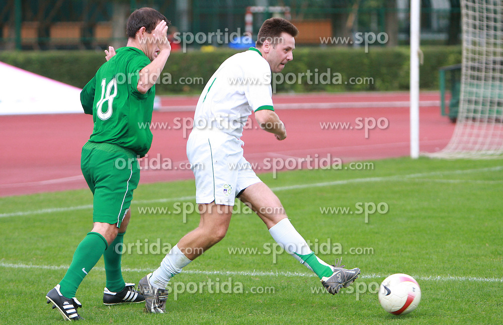 Uros Ahcan at friendly football game between famous Slovenians at day of Fair play, on September 21, 2008 in Kodeljevo, Ljubljana, Slovenia. (Photo by Vid Ponikvar / Sportal Images)