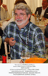 Film director GEORGE LUCAS at a lunch in West Sussex on 27th June 2004.<br /> PWM 236 MO