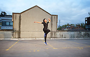 Dance Umbrella 2015 <br /> Launch <br /> Of Riders and Running Horses <br /> on the roof of the NCP car park Farringdon London Great Britain <br /> press photocall <br /> 13th October 2015 <br /> <br /> <br /> Tanya Richam-Odoi<br /> <br /> <br /> Photograph by Elliott Franks <br /> Image licensed to Elliott Franks Photography Services