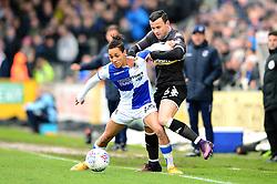 Kyle Bennett of Bristol Rovers holds off Zeli Ismail of Bury - Mandatory by-line: Dougie Allward/JMP - 30/03/2018 - FOOTBALL - Memorial Stadium - Bristol, England - Bristol Rovers v Bury - Sky Bet League One