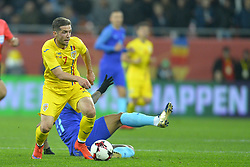 November 14, 2017 - Bucharest, Romania - Alexandru Chipciu (Rom) during International Friendly match between Romania and Netherlands at National Arena Stadium in Bucharest, Romania, on 14 november 2017. (Credit Image: © Alex Nicodim/NurPhoto via ZUMA Press)