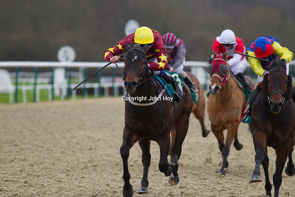 Dark Lane and Adam Kirby winning the 1.00 race